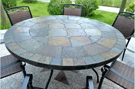 round stone patio table tops designs dining