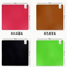 whole 52x26cm pu leather office desk heated pad electric business writing pad detachable warm table mat