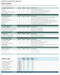 Template Vendor Scorecards Template This Scorecard Is Designed To
