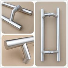 commercial door handles. RB-3283 Double Sided Stainless Steel Door Pull Handles For Commercial