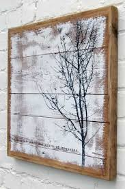 turn a wooden pallet into art the winter tree wooden picture collection the roar of trees and crack of branches on wooden tree wall art uk with 467 best patio ideas images on pinterest balcony ideas small