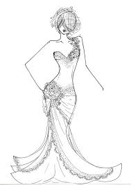 Small Picture Fashion Dress Coloring Pages GetColoringPagescom