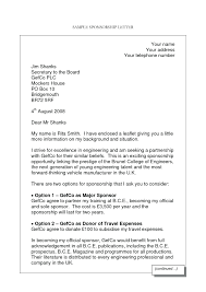 Template: Sponsorship Cover Letter Template Gallery Sample Example ...
