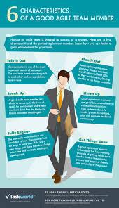 characteristics of a good agile team member ly 6 characteristics of a good agile team member infographic
