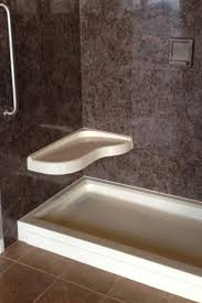 beautiful cultured marble shower walls with shower bench and shower pan also bathroom fixture