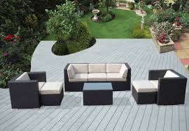 Costway Outdoor Patio 5pc Furniture Sectional Pe Wicker Rattan Outdoor Patio Furniture Sectionals