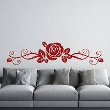 rose flower wall sticker fl headboard wall decal girls bedroom home decor