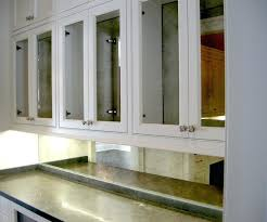 antique mirror cabinet doors small kitchen decorating design ideas using mirrored kitchen including dark grey granite