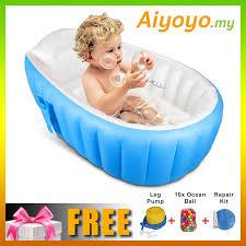 infant baby newborn inflatable bathtub swimming pool kid bath seat tod