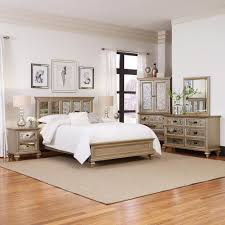 wood king bedroom sets. Plain Wood Home Styles Visions 5Piece Silver Gold Champagne Finish King Bedroom Set In Wood Sets K