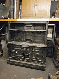0061037 victorian cast iron kitchen range h 171cm x 147 x 56