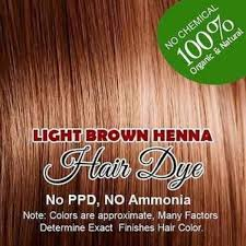 light brown henna hair color 100 organic and chemical free