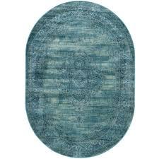 safavieh vintage turquoise multi 5 ft x 8 ft oval area rug