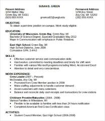 resumes for part time jobs 10 sample job resumes templates pdf doc free premium templates