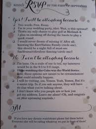 How To Reply To Wedding Rsvp Card Funny Rsvp Card Shows Off Couples Sense Of Humor Photo