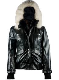 arctic freeze black er womens leather jacket with hoo