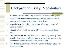 the age of imperialism standard describe the rise of industrial  background essay vocabulary