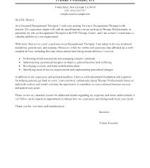 Physical Therapy Cover Letter New Grad Sample Occupational Therapy