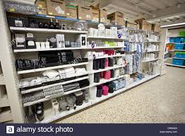 beautiful bathroom accessories and toweling shelves of a shop