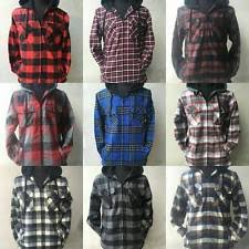 Hooded Flannel: Clothing, Shoes & Accessories | eBay & Flannel Jacket Plaid Jacket Hooded Zip Sherpa Lined Adamdwight.com