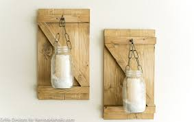 How To Make A Rustic Hanging Mason Jar Candle Holder or Vase | Farmhouse  Style Wall