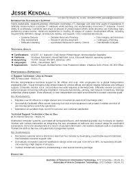Entry Level Help Desk Resumes Sample Entry Level Resume High School Graduate It Skills Examples