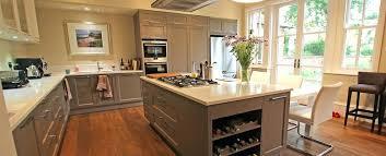 Shaker Kitchen Island Units Beige Grey Country Kitchen With Island