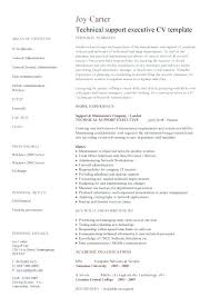 Sales Support Resume Samples Sample Resume Executive Technical
