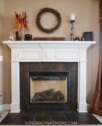 diy stone fireplace surround before sondra lyn at