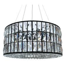 4 light round drum crystal chandelier ceiling fixture chrome finish fascinating led modern