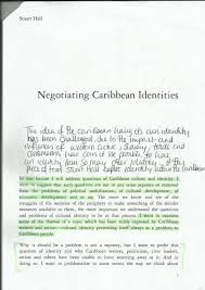 essay research negotiating caribbean identities by stuart hall 13
