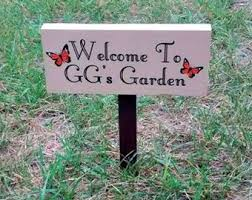 garden sign. Personalized Garden Signs Sign