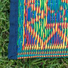 plastic woven rug outdoor