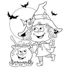 Small Picture digital stamp Midnight Ride Halloween coloring page funny