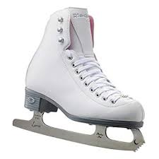 Riedell Skates 114 Pearl Womens Recreational Ice Figure Skates With Steel Luna Blade
