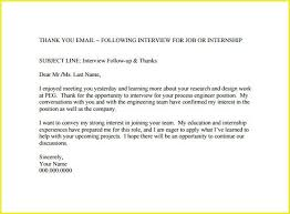 Thank You Letter After Job Interview Subject Line Newletterjdi Co