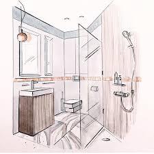 bathroom interior design sketches. Modren Interior 750x750 Bathroom Sketch U201au20acu20ac Pinterest Sketches Interiors And Intended Interior Design Sketches C