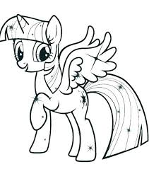 My Little Pony Characters Coloring Pages Twilight Sparkle And