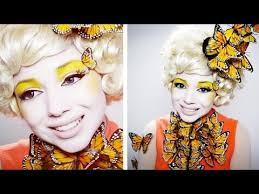 the hunger games diy effie trinket erfly hat for my costume you cosplay effie trinket makeup you and costumes