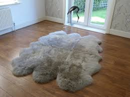 decoration small sheepskin rug warm lovely unusual 1piece 55x85cm pure white 3 5 pertaining to