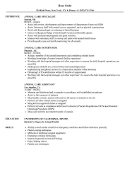 Animal Care Worker Sample Resume Animal Care Resume Samples Velvet Jobs 14