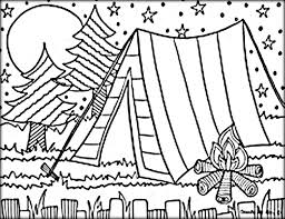 Small Picture Camping Coloring Pages Color Zini