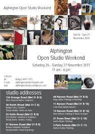 Alphington Open Studio Weekend studio addresses