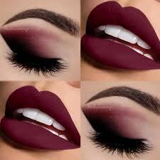 burgundy matte smokey makeup for brown eyes burgundy matte smokey eye