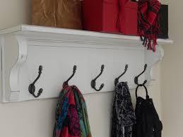 Vintage Style Coat Rack Coat Rack with Shelf Wall Shelf with Vintage Style Iron 68