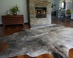 grey cowhide rug cow genuine skin leather cowhide area rug hair on hide