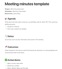 Free And Simple Meeting Minutes Templates