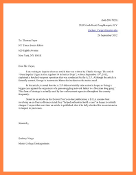 Formal Letter To Editor Format Letter To The Editor Example Zack