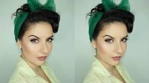 tutorial estilo pinup para cabello largo con bufanda nena moreno