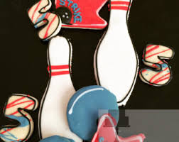 Decorated Bowling Pins Bowling ball cookies Etsy 52